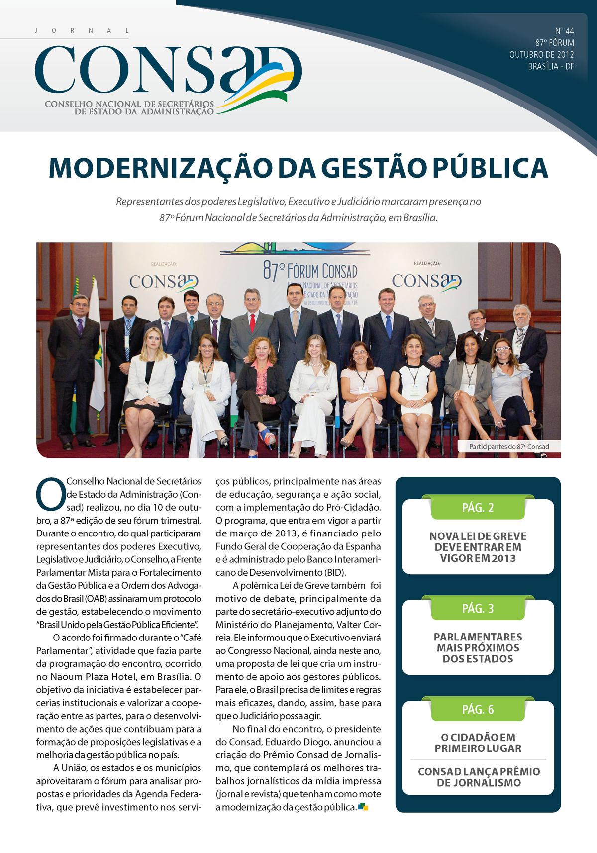 Jornal do Consad Número 44 – Outubro de 2012