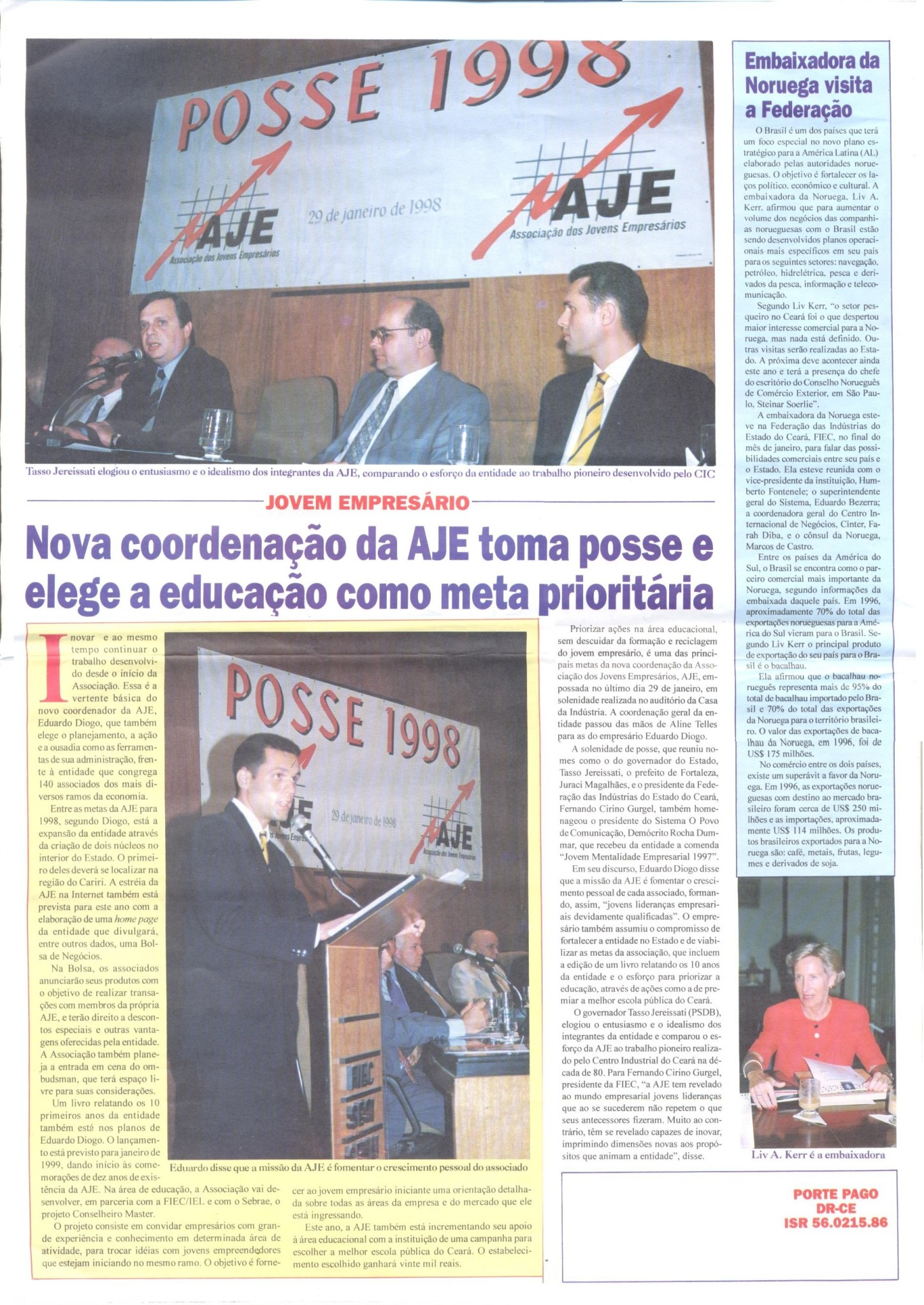 Jornal da FIEC de Fevereio de 1998