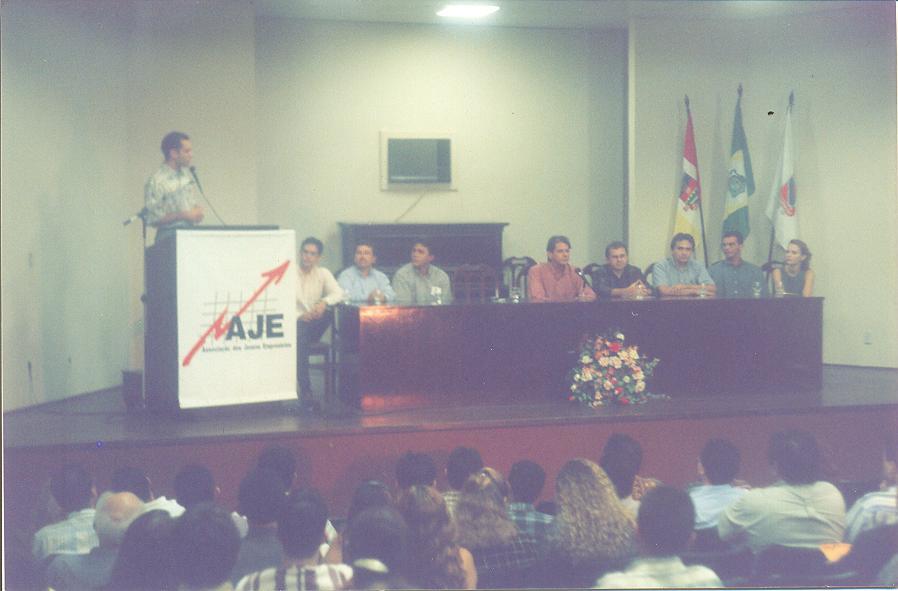 Posse da AJE Sobral Gestão 1998 com a presença do Prefeito Cid Gomes