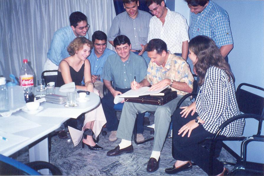 Assinatura da ata de constituição da Federação das Associações dos Jovens Empresários do Ceará – FAJECE