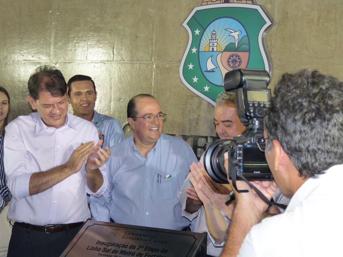 Linha Sul: Cid Gomes inaugura primeira estação central