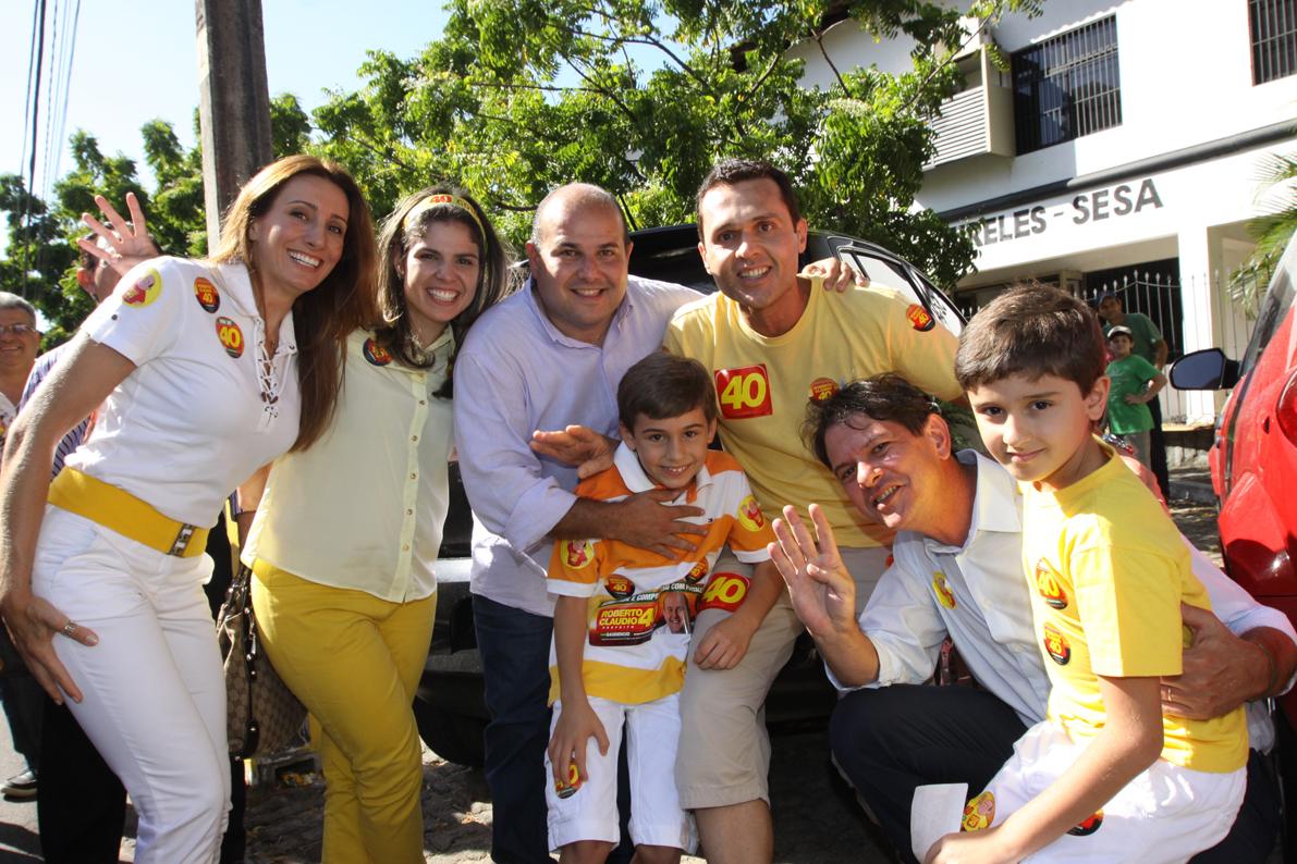 Momento de descontração no dia da Eleição do Prefeito Roberto Cláudio
