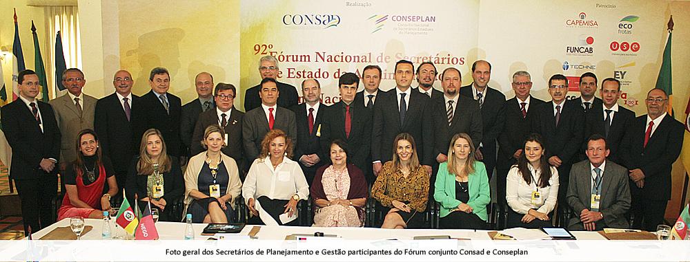 Consad e Conseplan realizam Fórum conjunto