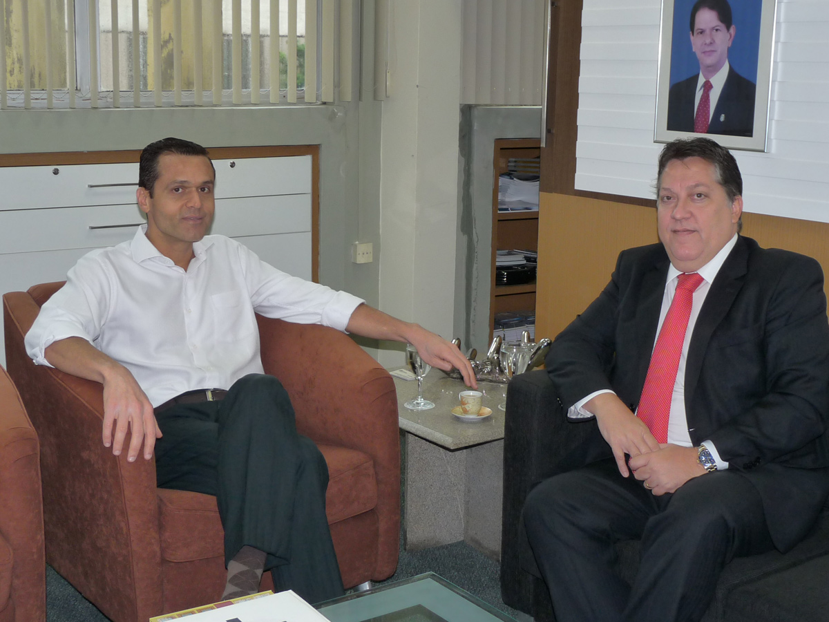 Presidente do TCE visita SEPLAG