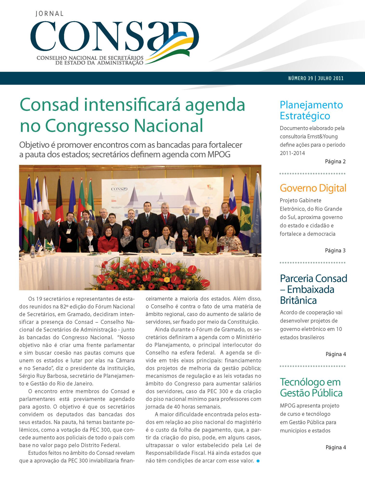 Jornal do Consad Número 39 – Julho de 2011