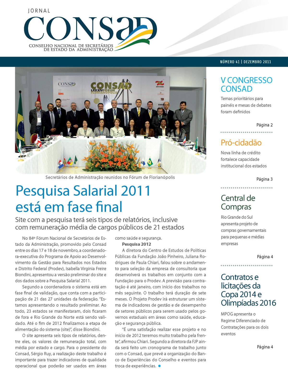 Jornal do Consad Número 41 – Dezembro de 2011