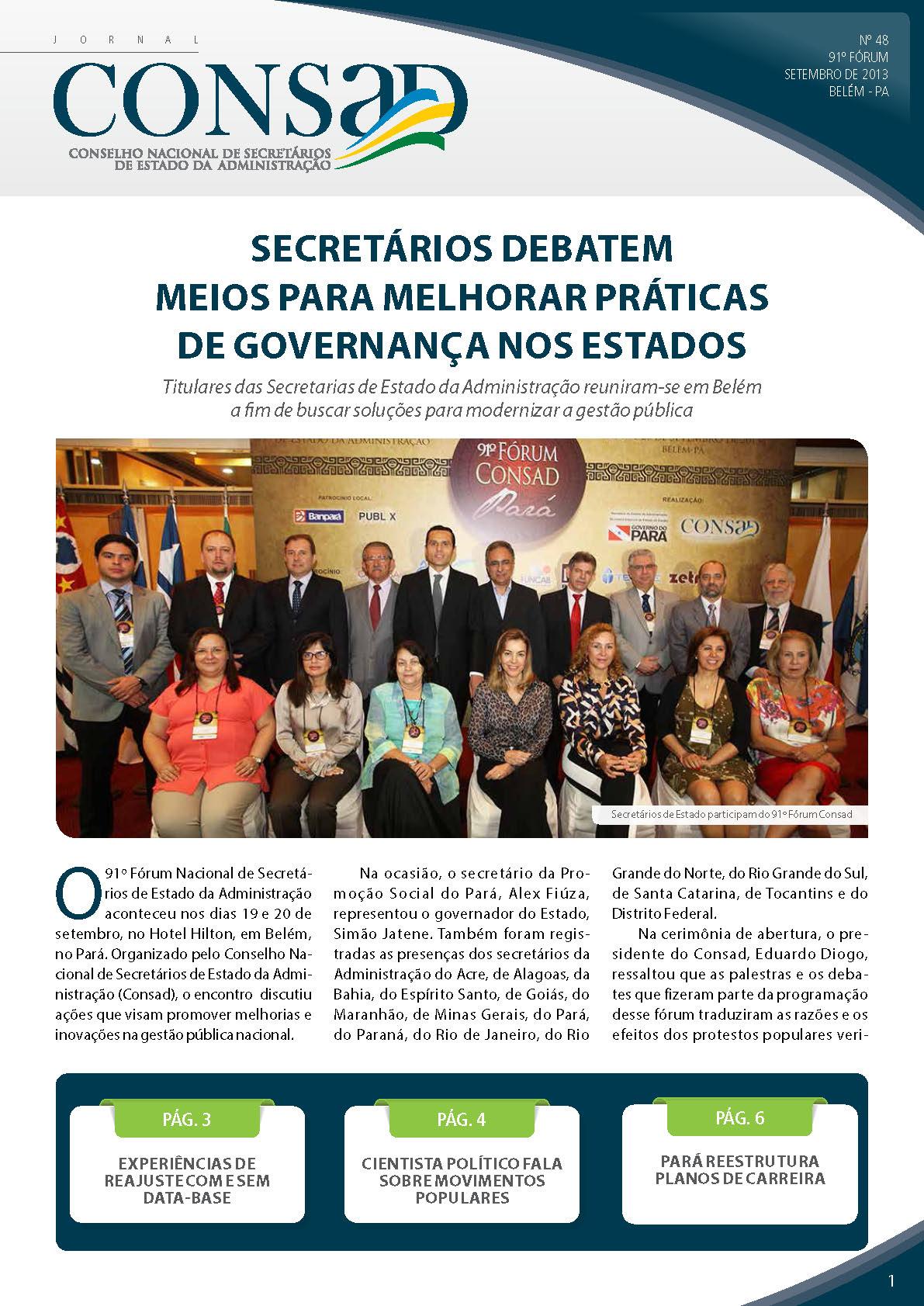 Jornal do Consad Número 48 – Setembro de 2013