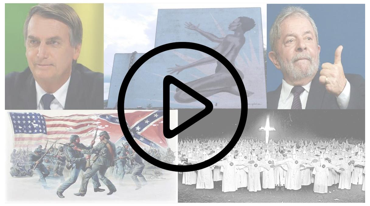 Vídeo O que nos ensina a conexão entre Bolsonaro, Lula, a Ku Klux Klan, a Escravidão, e a Guerra Civil dos EUA? O que é mais importante: vencer a próxima eleição ou fazer vitoriosa a próxima geração? Vamos deixar de lado as pirotecnias divisionistas, e acolher o momento de Regenerar que se avizinha…
