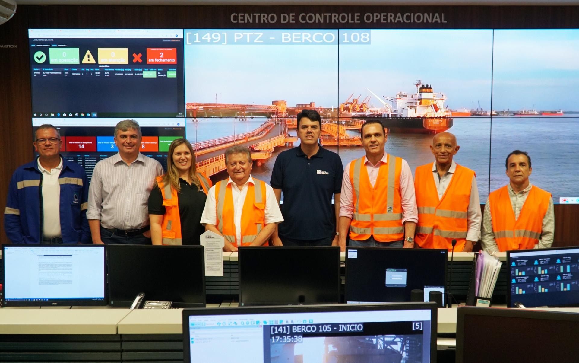 Visita ao Porto do Itaqui, onde fomos anfitrionados pelo Presidente Ted Lago