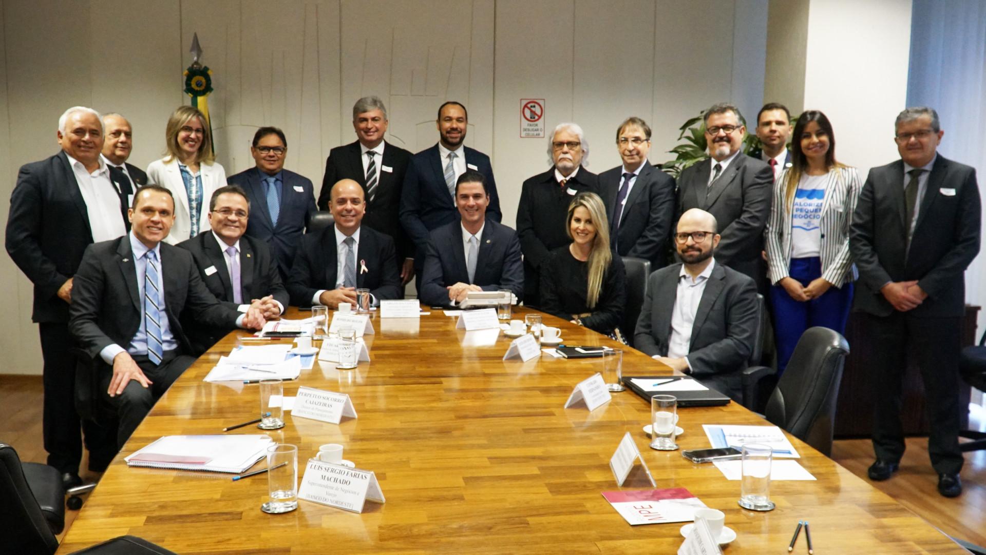 Reunião no Ministério da Economia com o Sebrae e o Banco do Nordeste