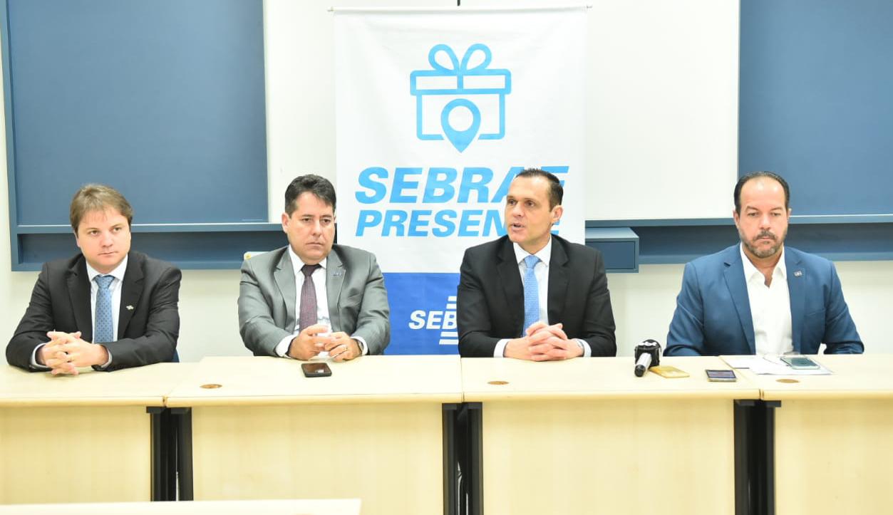 Coletiva de imprensa no Sebrae/TO