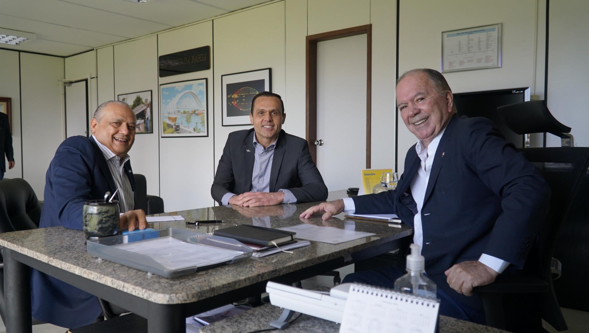 Reunião com o Vice-governador da Bahia, João Felipe de Souza Leão