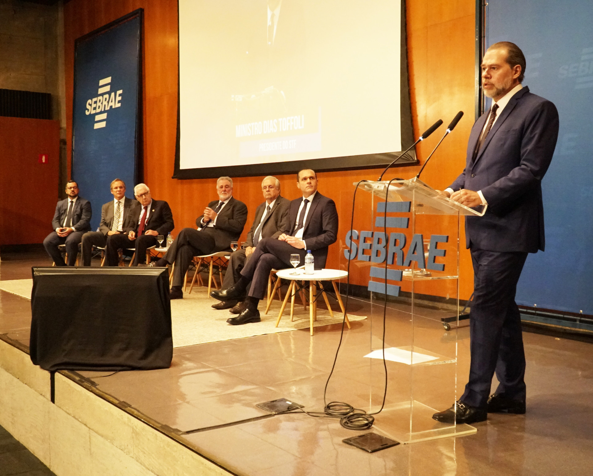 Presidente do Supremo Tribunal Federal, Ministro Dias Toffoli realiza palestra magna no Sebrae Nacional