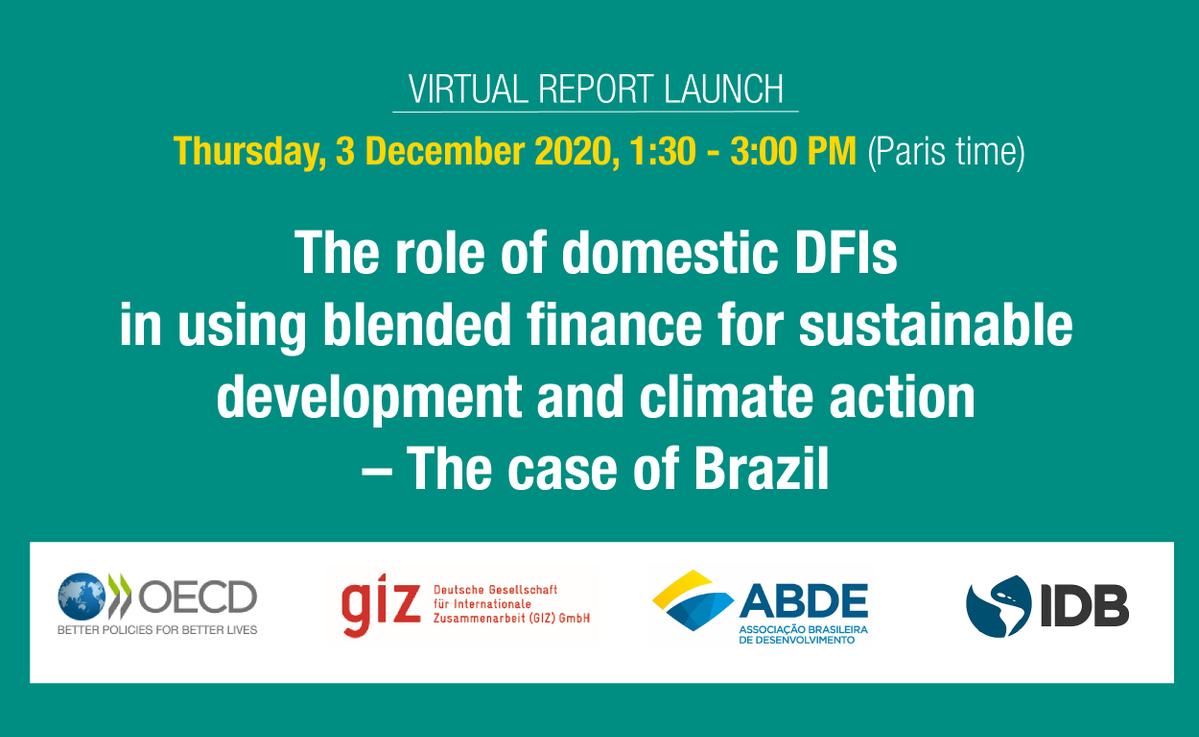 OCDE, GIZ, ABDE e BID lançam juntos novo documento de cooperação