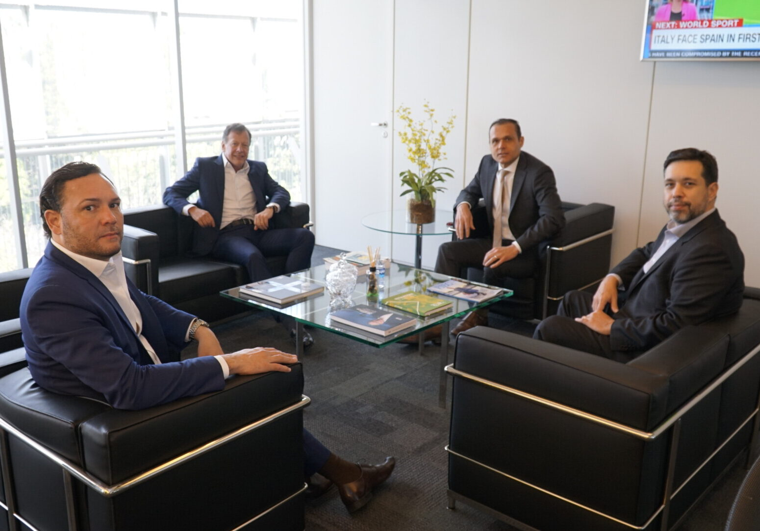 Reunião com Alexandre Barcelar, João Camargo e Eduardo